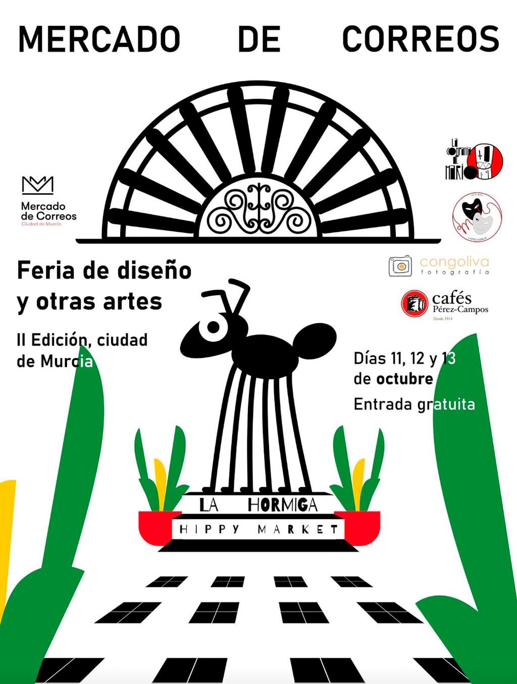 cartel Mercado de Correos en Murcia
