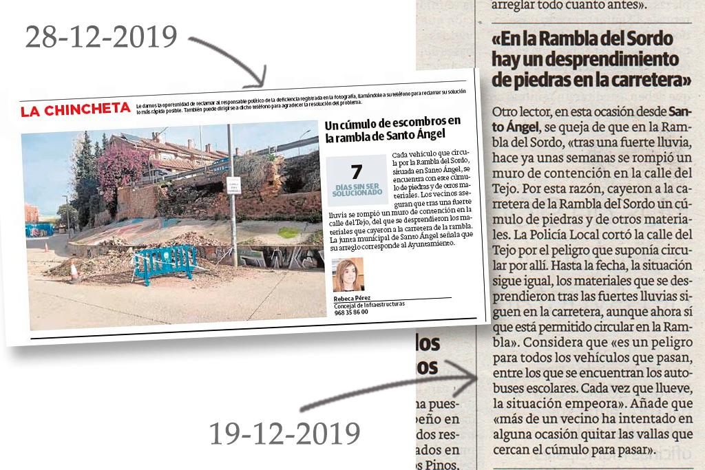 publicaciones diario La Verdad diciembre 2018