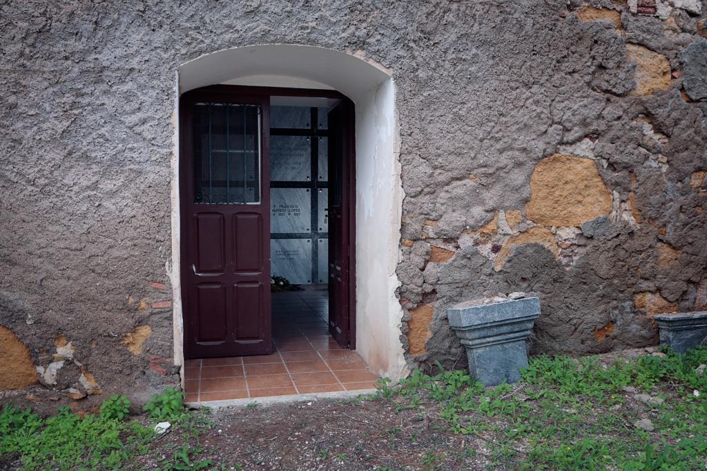 Entrada al Cementerio de Santa Catalina del Monte en Santo Ángel