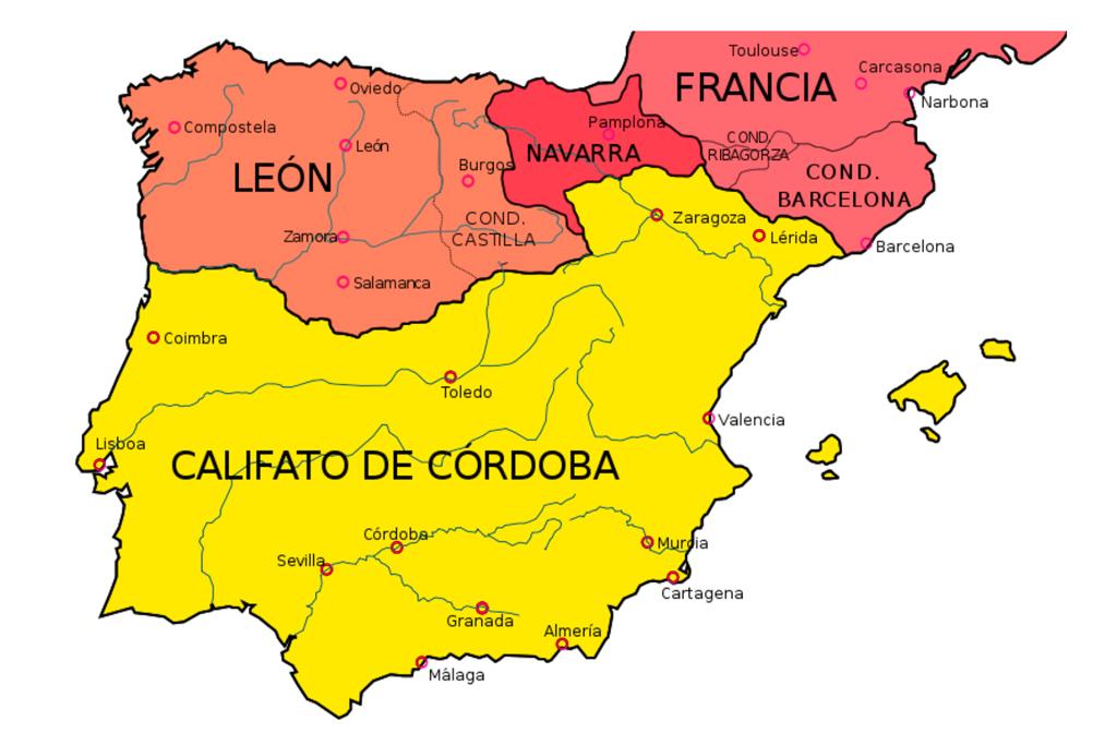 Mapa isla iberica
