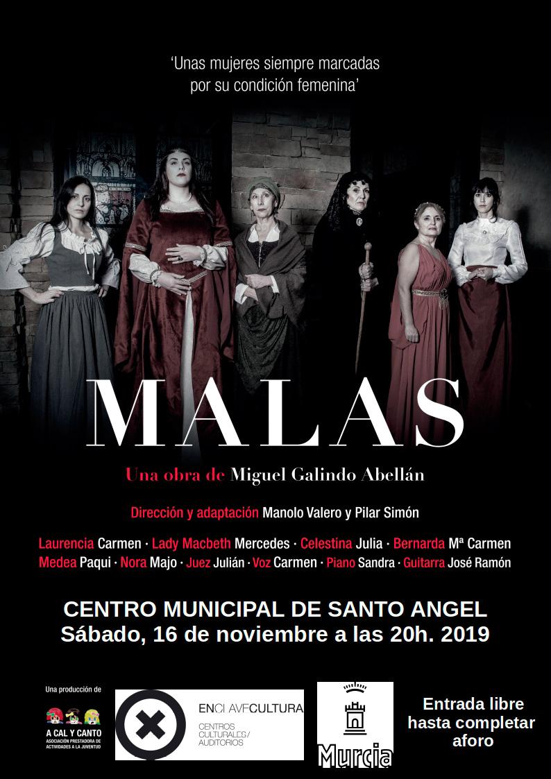 cartel teatro Malas