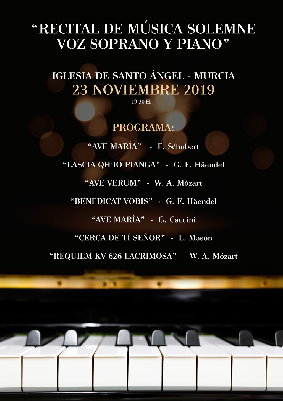 cartel concierto solemne advento