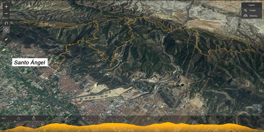 Mapa carrera MBT 2019 Santo Ángel