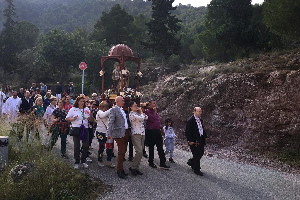 Procesión Santas Alodía y Nunilón en Santo Ángel
