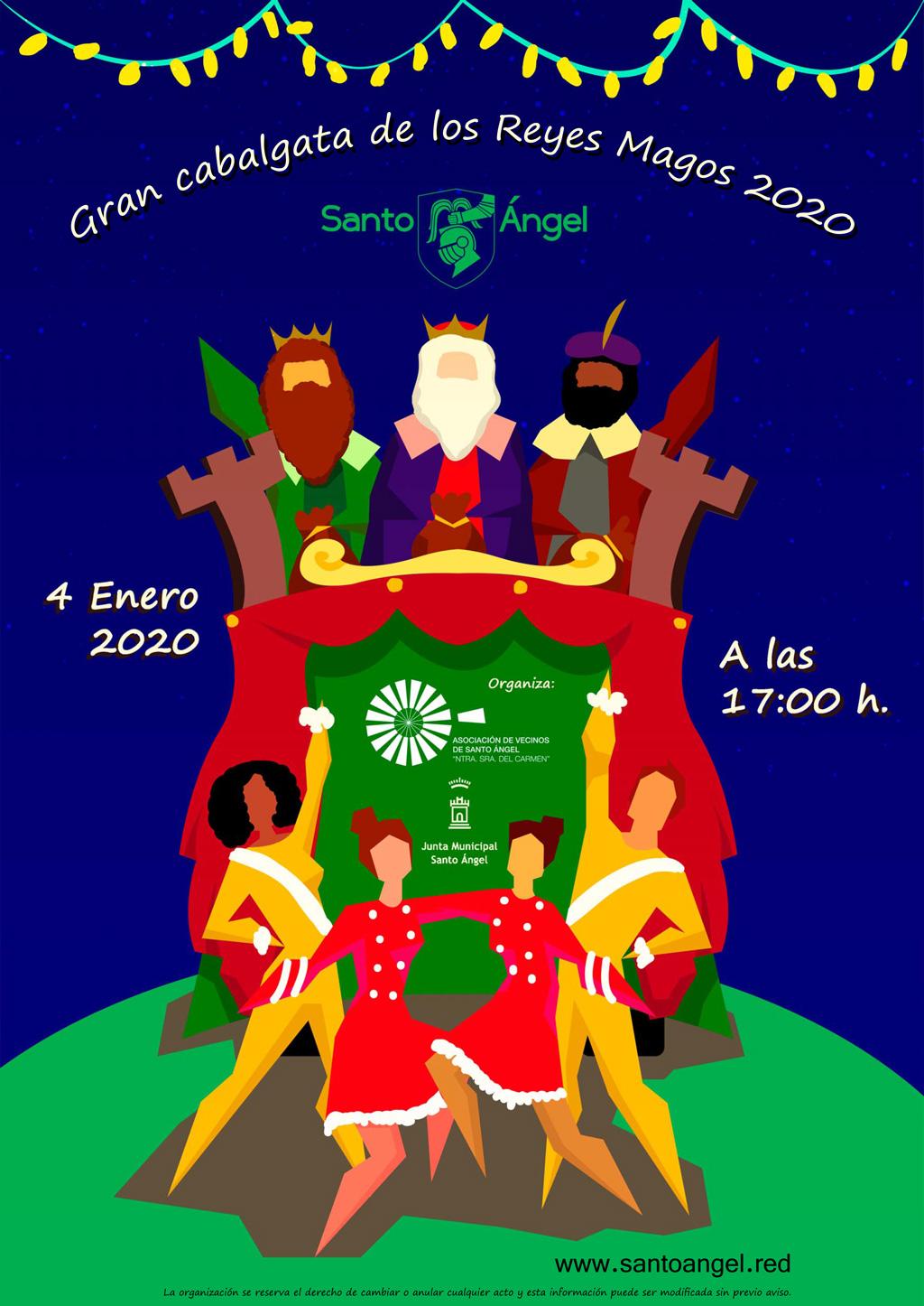Cartel cabalgata de los Reyes Magos 2020