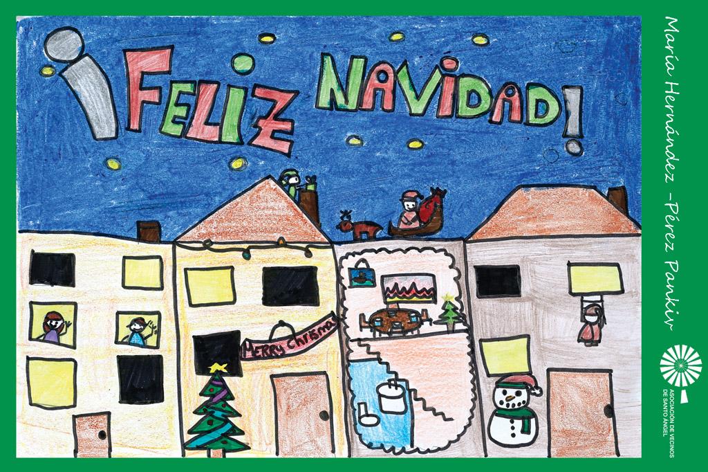 Autor postal navidad Maria Hernandez