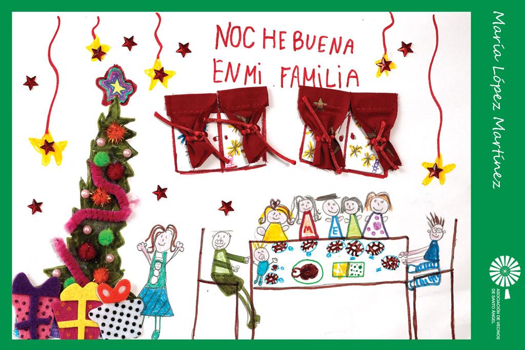 Autor postal navidad Maria lopez