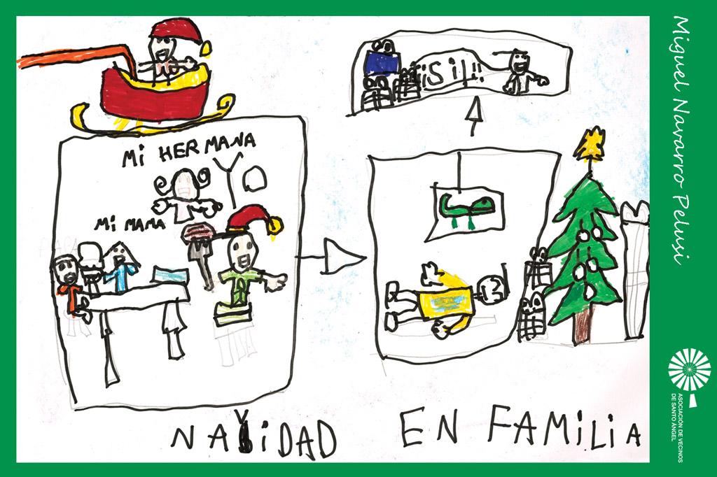 Autor postal navidad Miguel Navarro