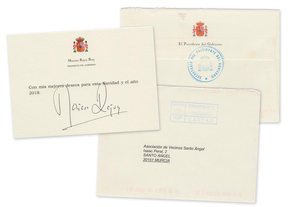 Postal de Navidad del Presidente de Gobierno de España Mariano Rajoy (2017)