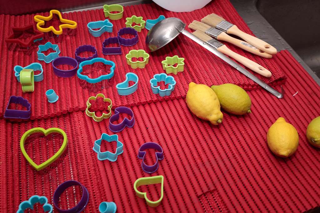 Taller dulces de navidad, herramientas y formas
