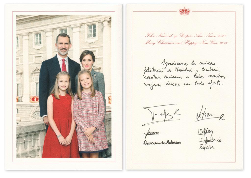 Postal de Navidad Los Reyes de España 2017