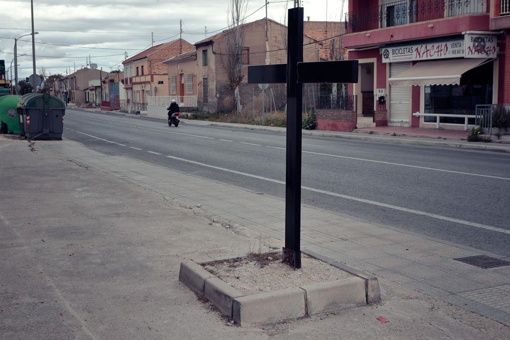 Cruz al principio del Carril de la Cruz