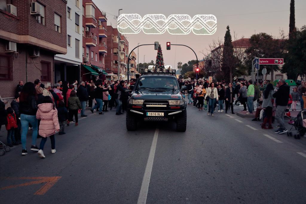 La carroaza de lor Reyes Magos en la avenida Juan Carlos I