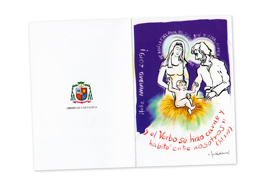 Postal de Navidad de D. José Manuel, Obispo de Cartagena