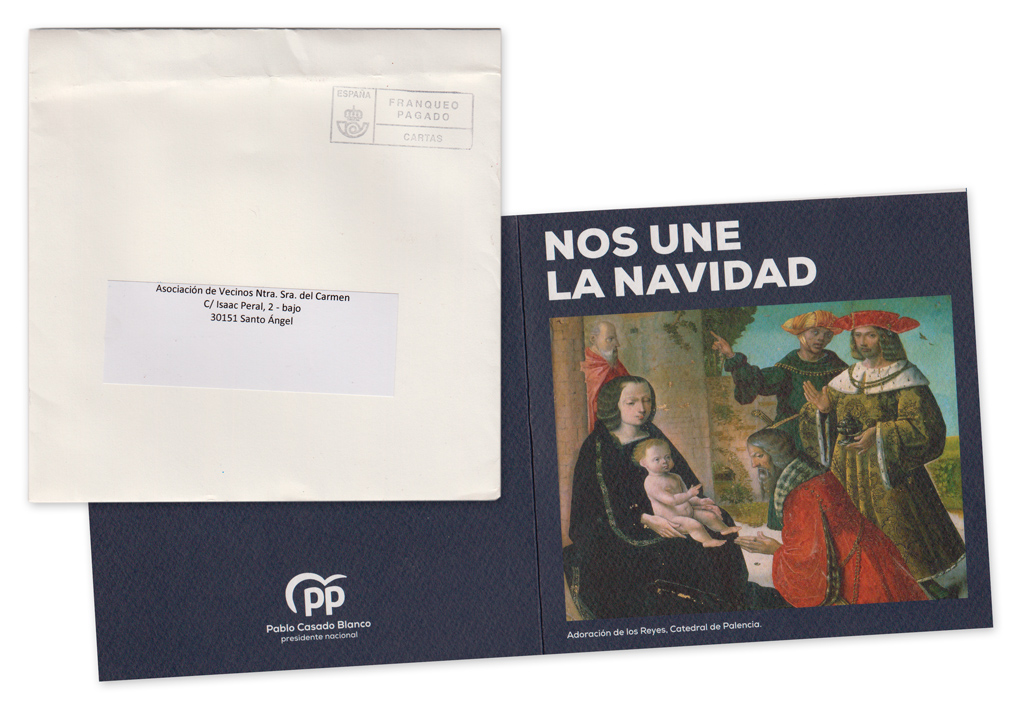 Postal de Pablo Casado, Presidente del Partido Popular