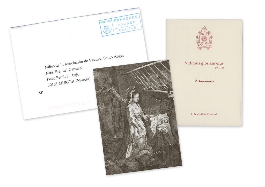 postal de Navidad del Papa Francisco Vaticano 2019