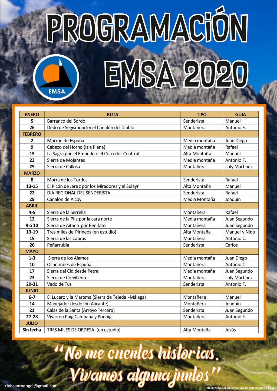 Cartel Rutas EMSA 2020