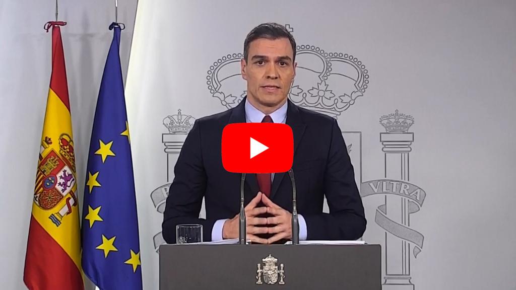 Presidente Pedro Sanchez Estado de Alarma