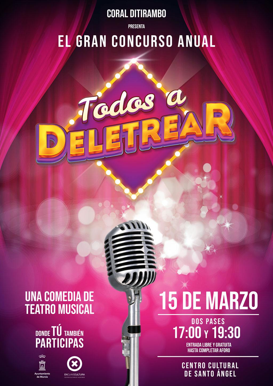 """cartel Teatro """"todos a deletrear"""" de La Coral Ditirambo"""
