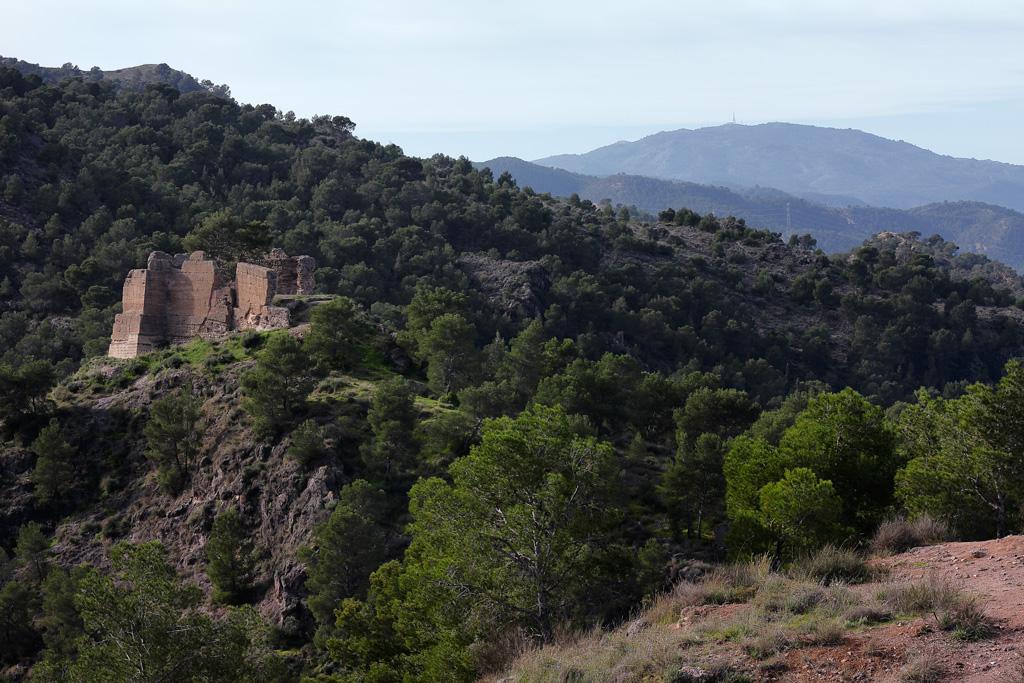Castillo dentro el Parque el Valle y Carrascoy