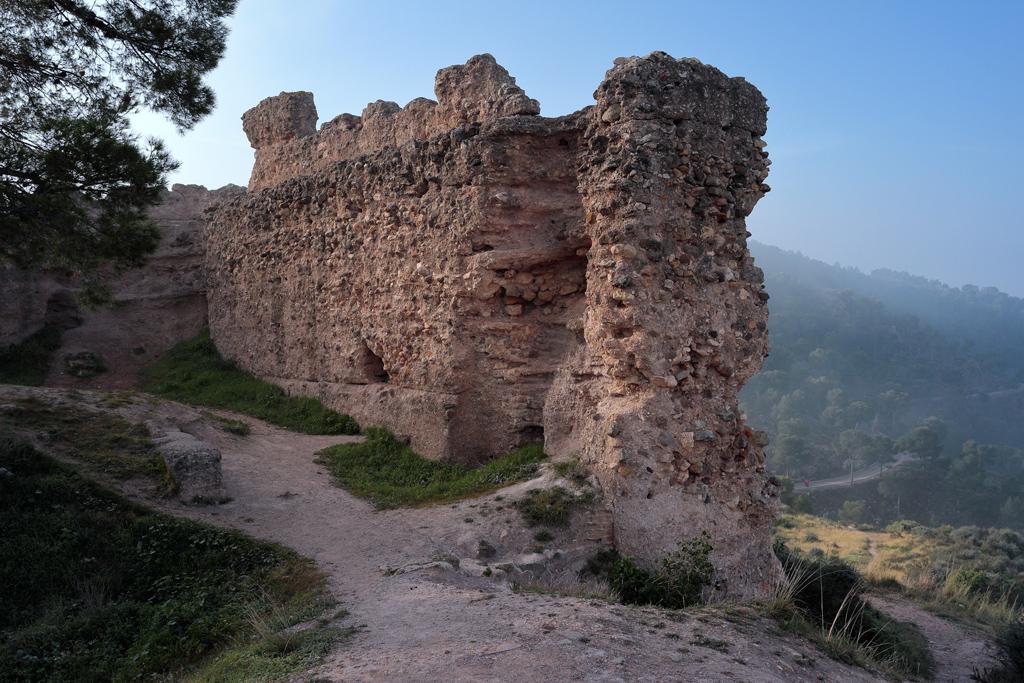 Parte del muro del Castillo de la Luz