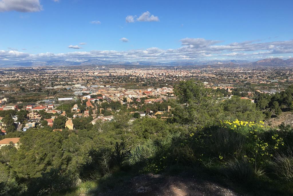 Vista desde el Castillo de Verdolay