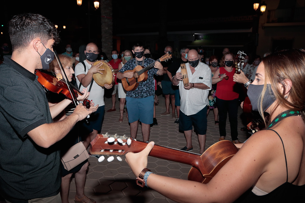Cuadrilla de Torreagüera durante la inauguración de las jornadas