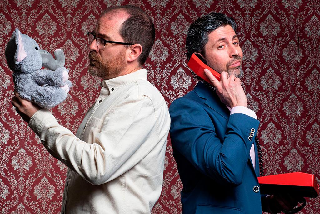 Actores Manuel Menarguez y Pedro Santomera