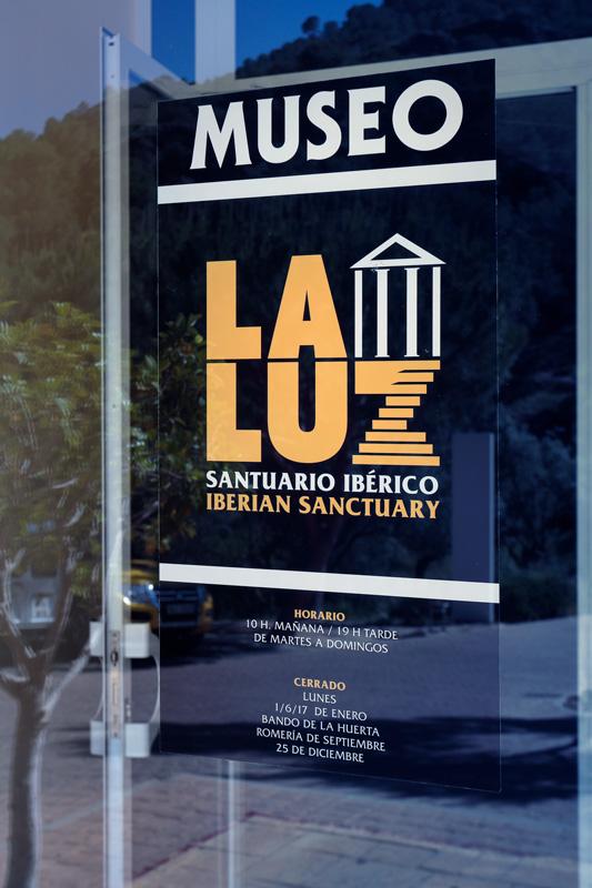 cartel entrada Centro de Visitantes de La Luz