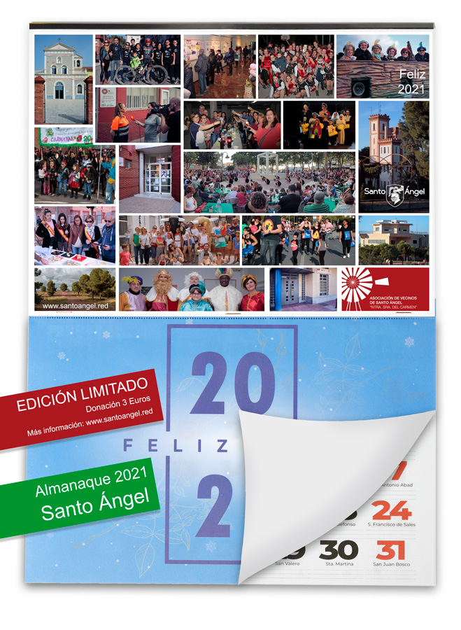 Almanaque 2021 Santo Ángel