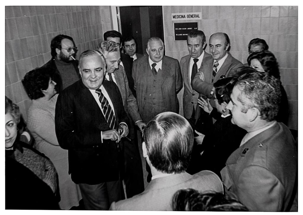 la inauguración del consultorio médico de La Alberca 19/2/1979