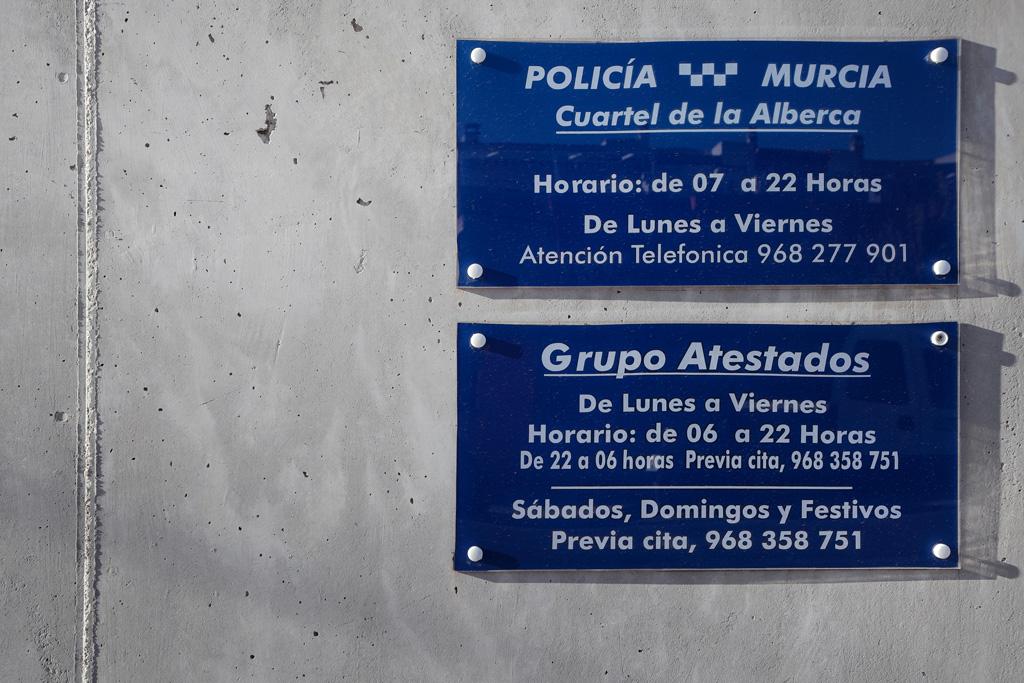 Entrada cuartel de la Policía Local en La Alberca