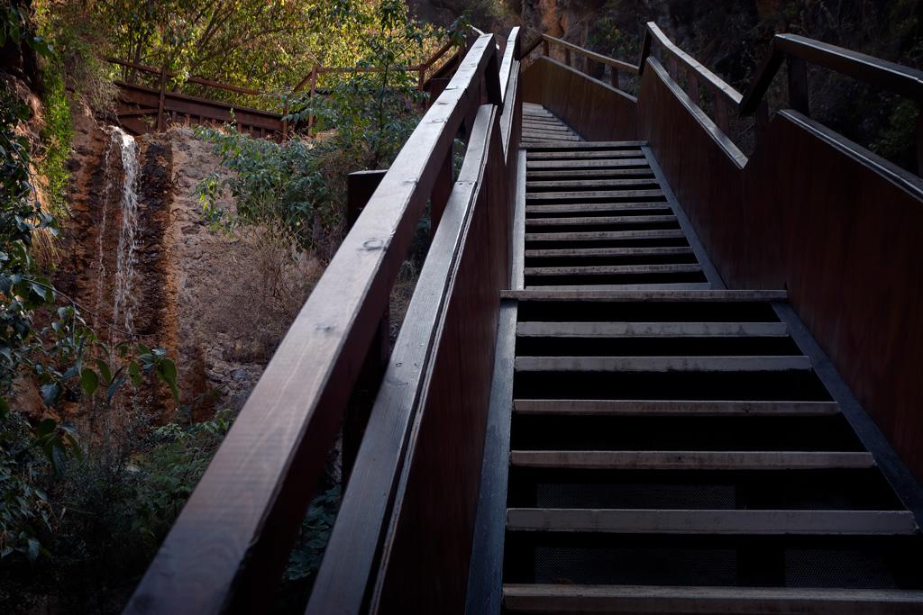 Escaleras al Castillo de la Luz
