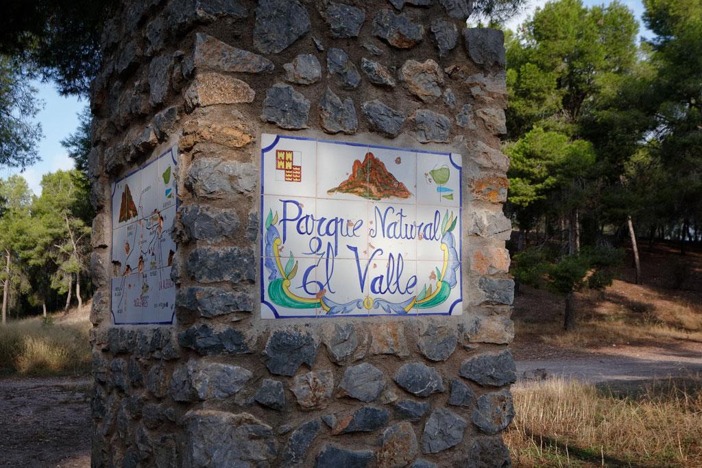 """Entrada parque natural """"el Valle"""""""