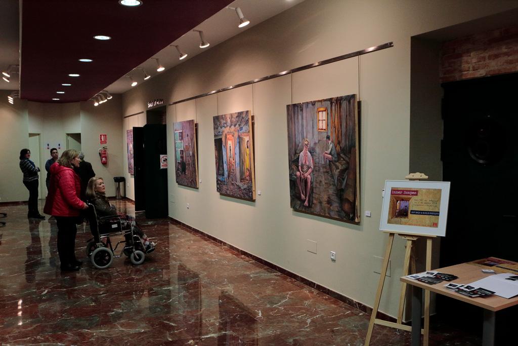 Exhibition of paintings by Ignacio Garcia Moreno - artistic tourism