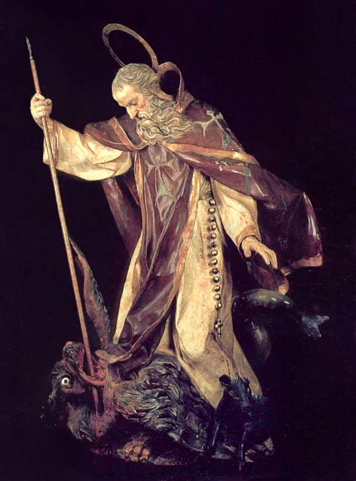 San Antonio Abad - Talla en madera de Francisco Salzillo (autor desconocido)