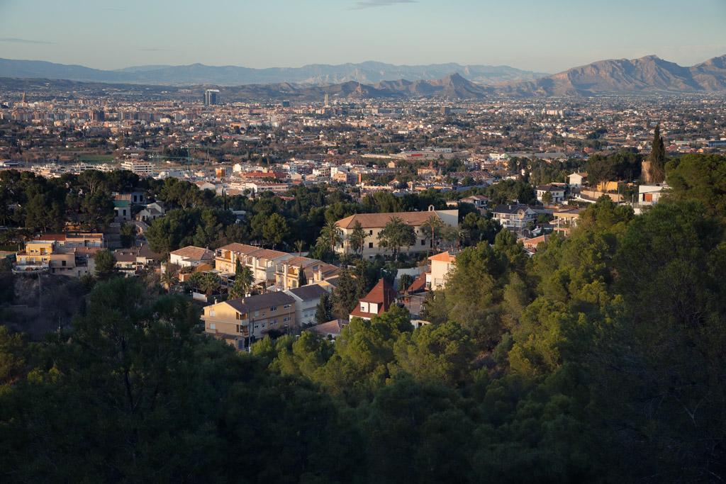 Views to Santo Ángel in Murcia (Spain)