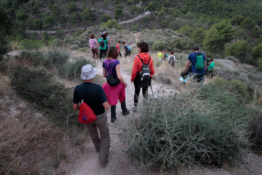 Hiking in the natural park of the valley