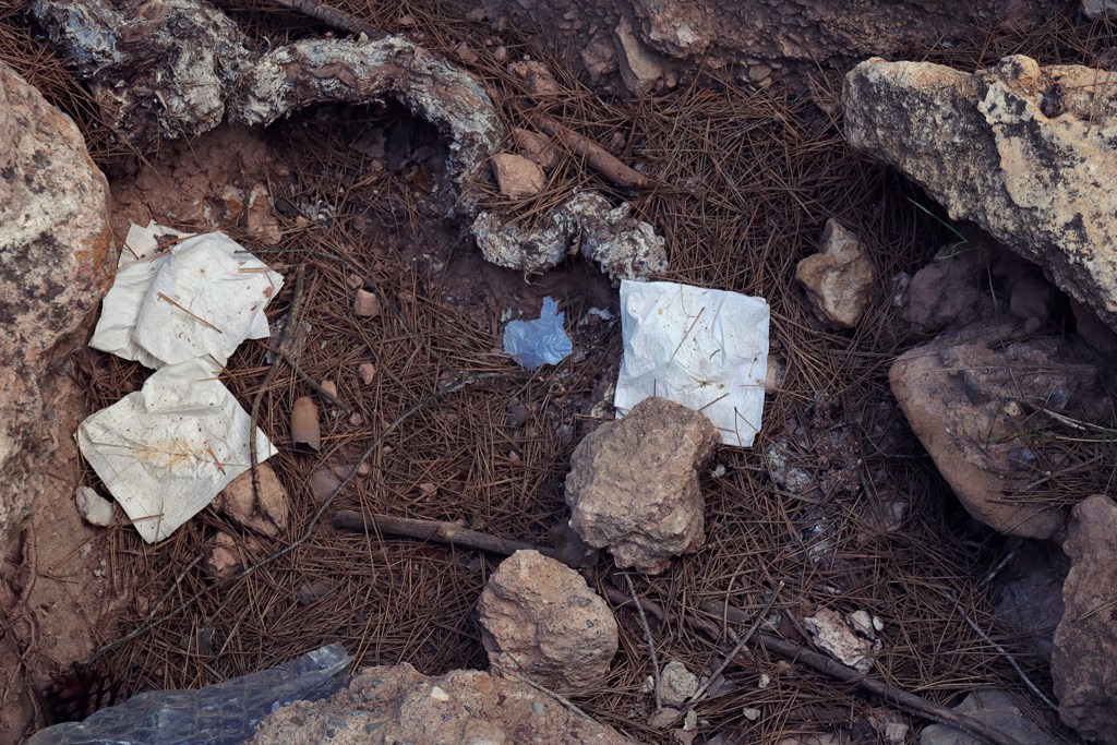 """basura en el Parque natural """"el Valle Carrascoy"""""""