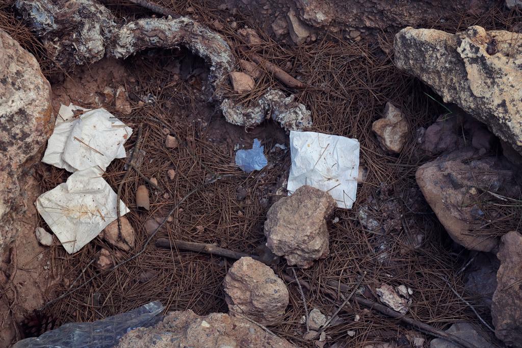 "Rubbish in the natural park ""el Valle Carrascoy"""