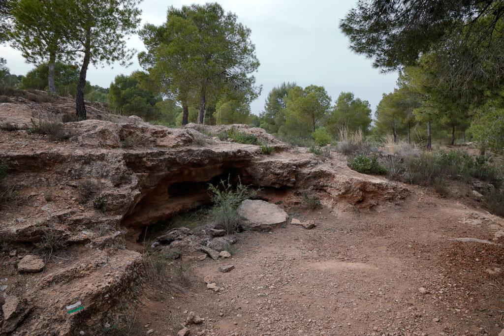 Paisaje de la ruta de trincheras