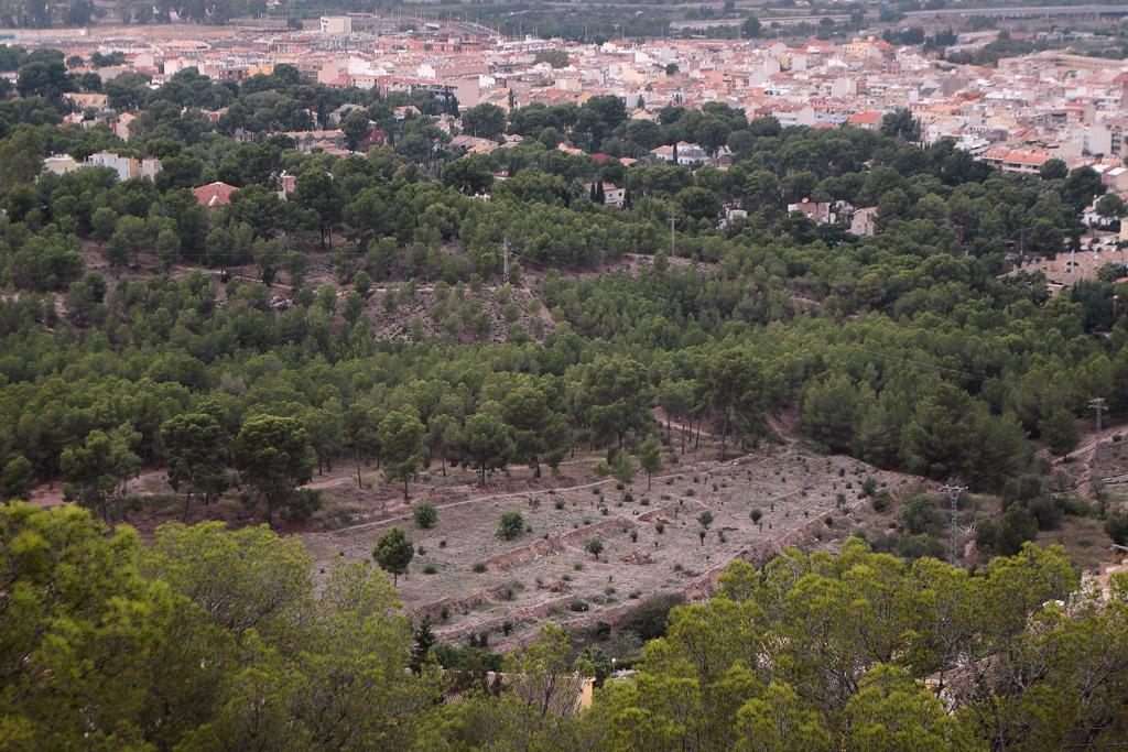 El Cabecico Tesoro vista desde el castillo de la Luz