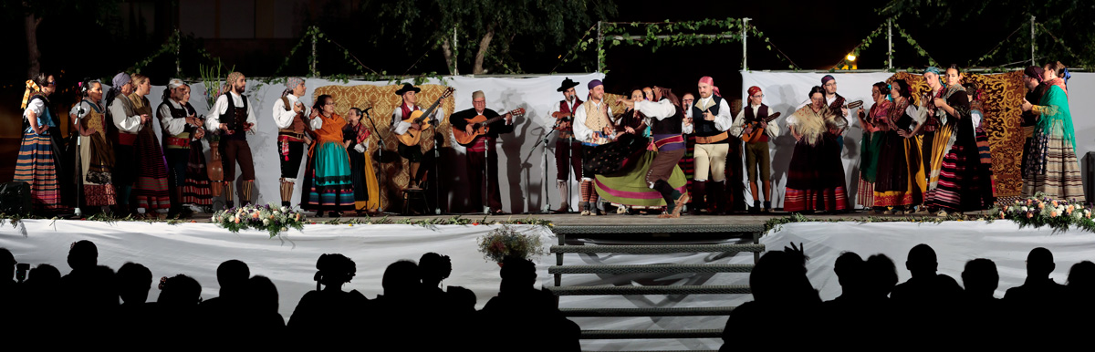 Traditional dances in the Cultural Week in Santo Angel