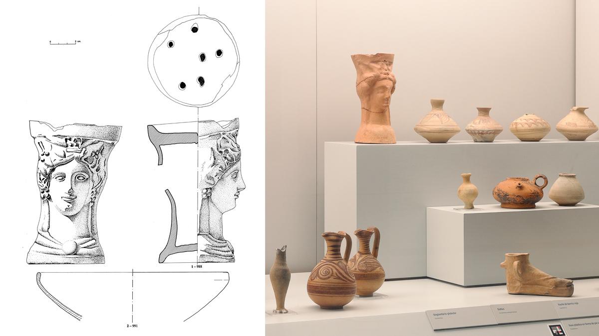 Materiales encontrados en la tumba número 606
