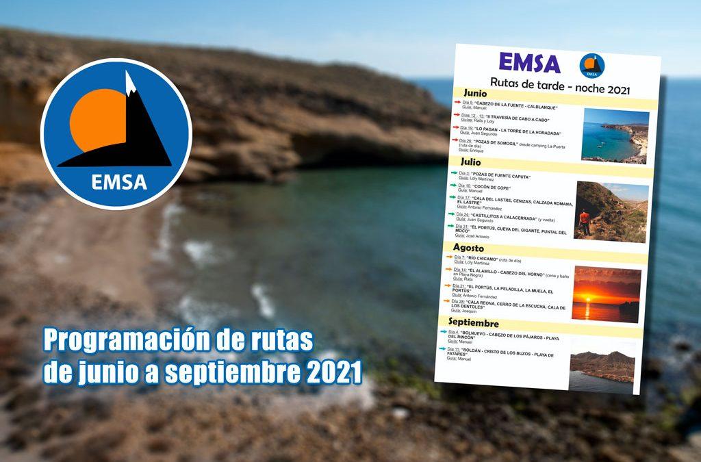 EMSA – Programación de 15 rutas de junio a septiembre 2021