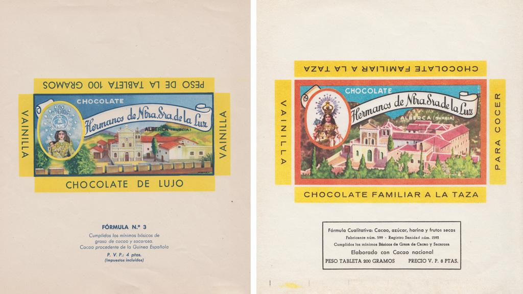 Envoltorios originales de productos de chocolate